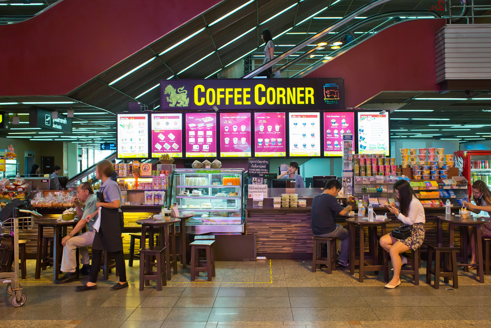 Coffee corner in Don Mueang International Airport_316661633