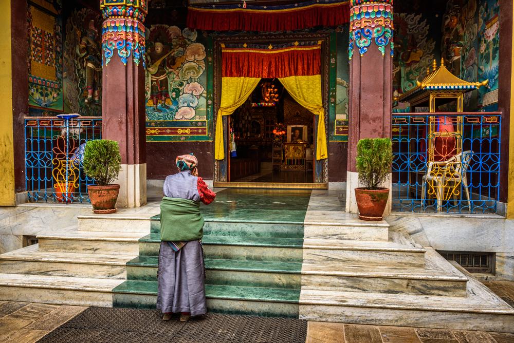 buddhist temple in Kathmandu_373607107