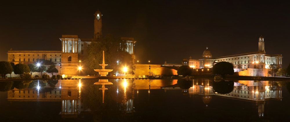 New Delhi, Presidential palace in the night_144718861