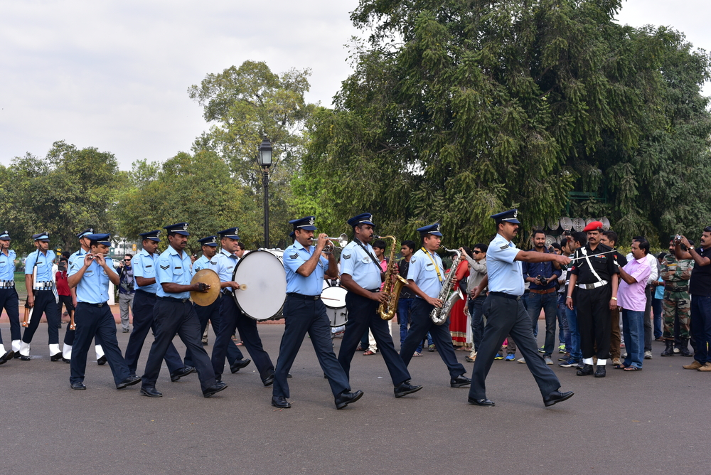 Air Force Soldiers at India Gate_386542111