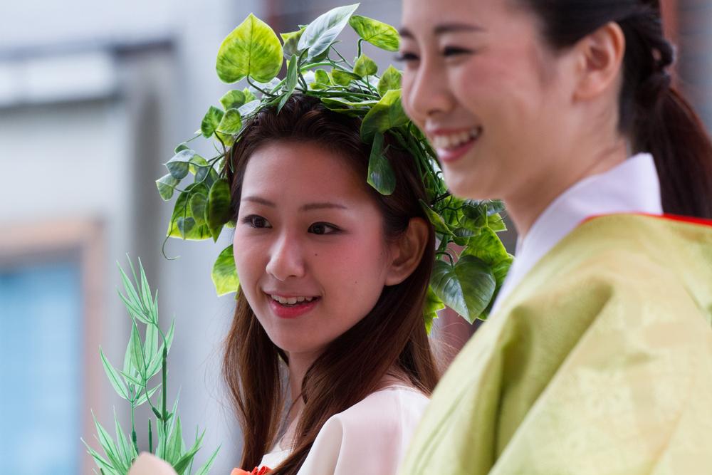 Unidentified Miss Kimono girl on parade of hanagasa_147308321