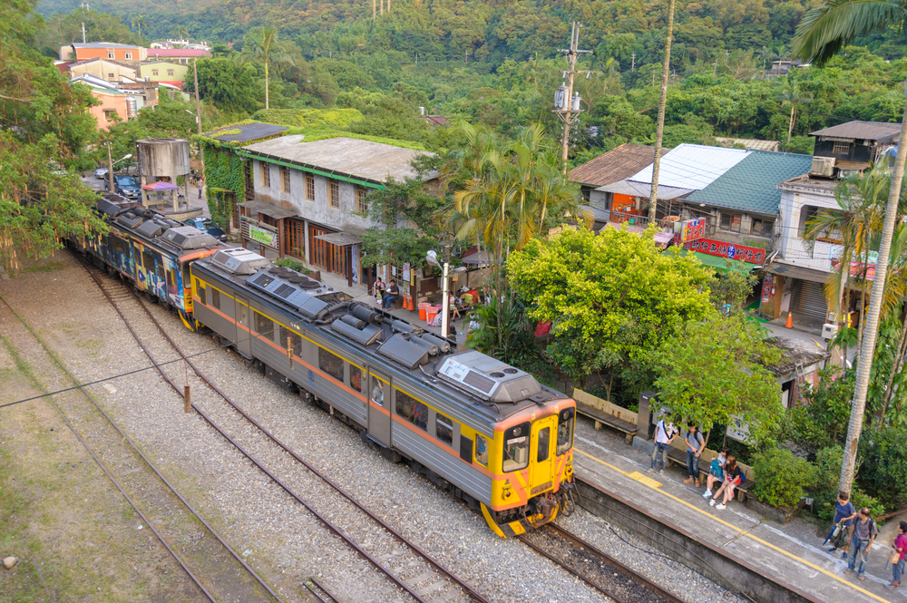 famous Pingxi station in New Taipei City_304073333