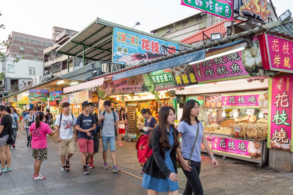 Danshui riverside shopping area_335868353