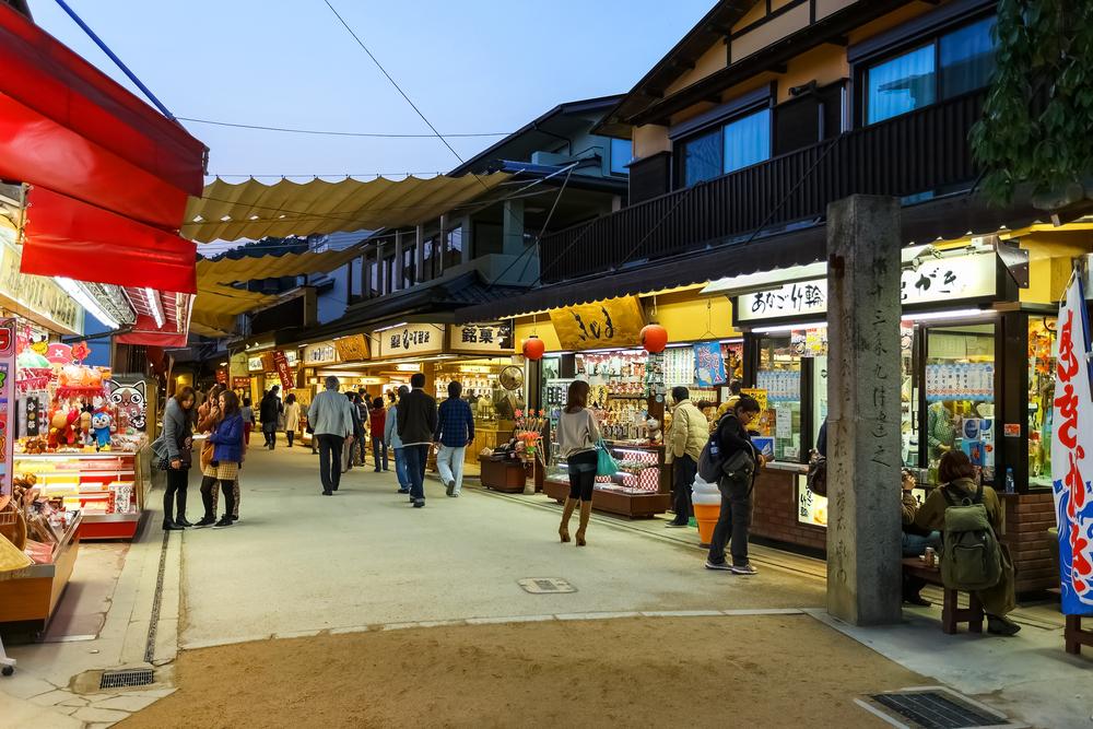 Omotesando Shopping street in Miyajima_169414871