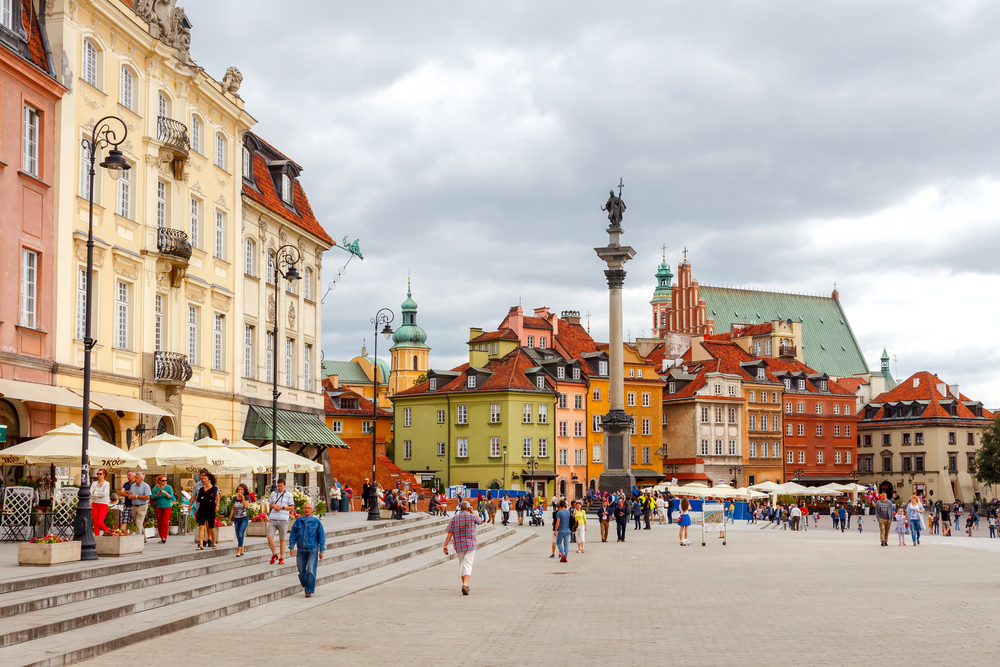 Royal Square in the old historic part of Warsaw_351830711