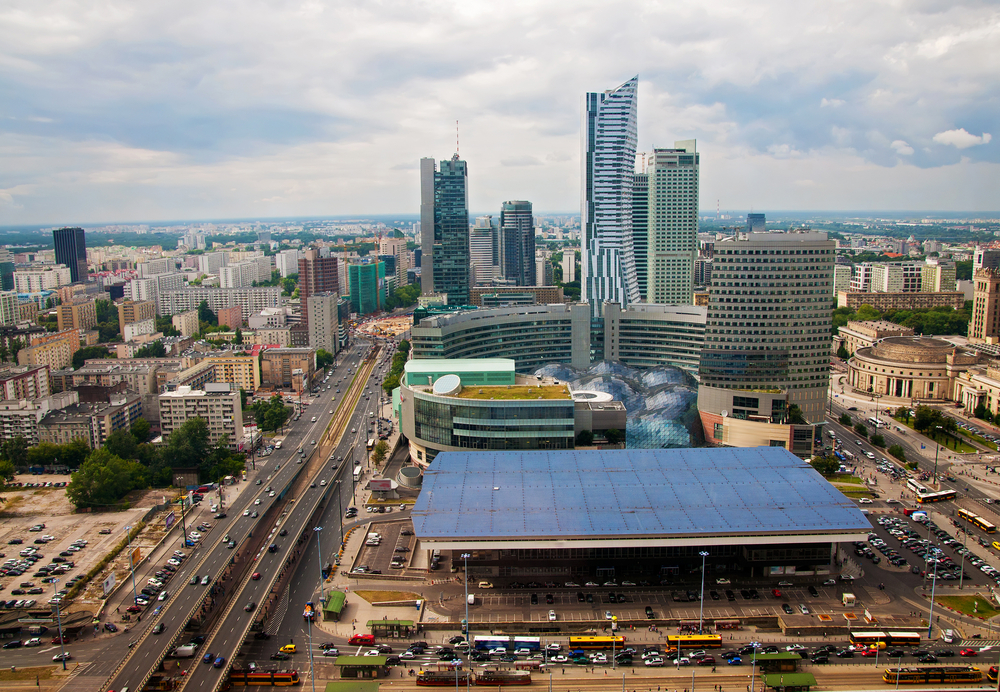 view of the modern center of Warsaw_146842604
