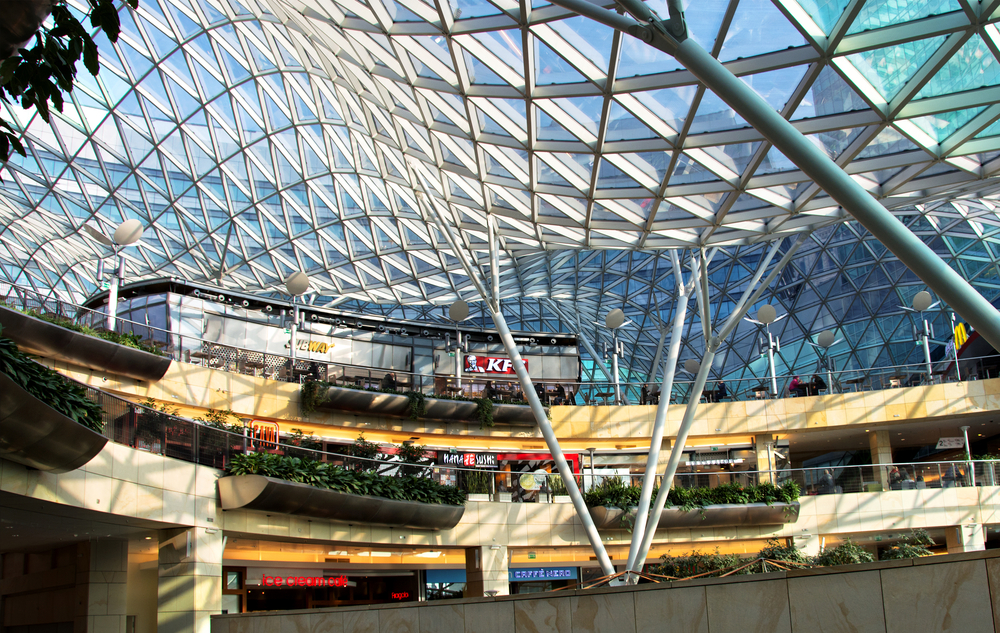 modern shopping mall Golden Terraces in Warsaw_392843059