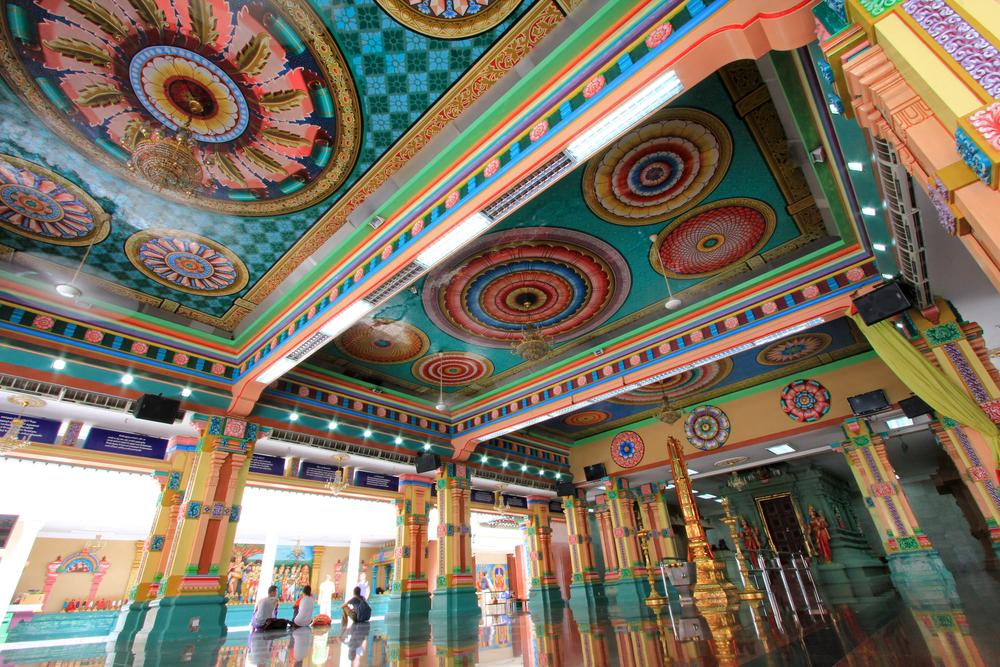Main Prayer Hall at Sri Mahamariamman Indian Temple in Kuala Lumpur_154540895