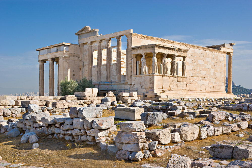 Erechtheion with its famous Porch of the Maidens_173498555