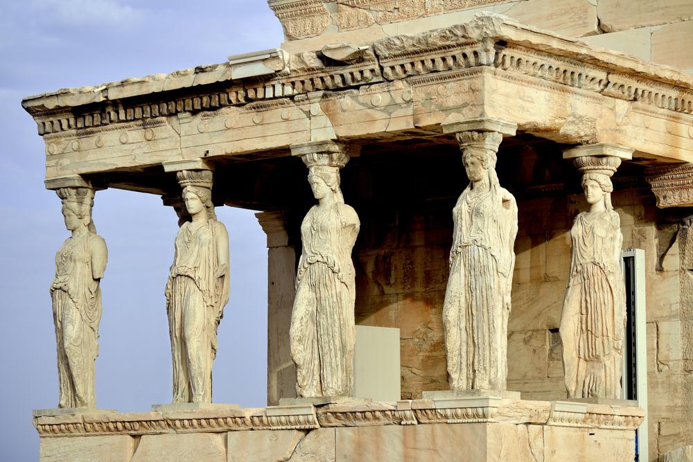Caryatides at Acropolis, Athens, Greece_274863119