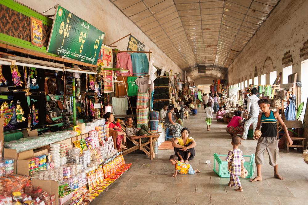 street and selling food near Mandalay_318900974