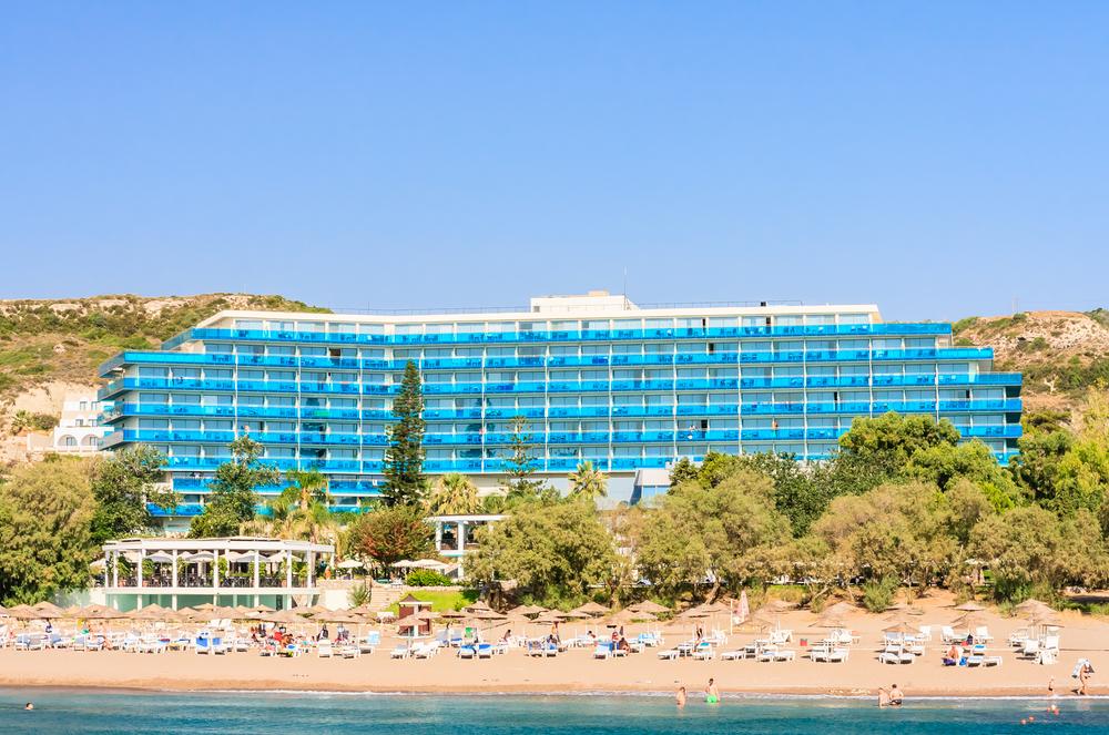 hotel on Rhodes island in Faliraki village_245088190