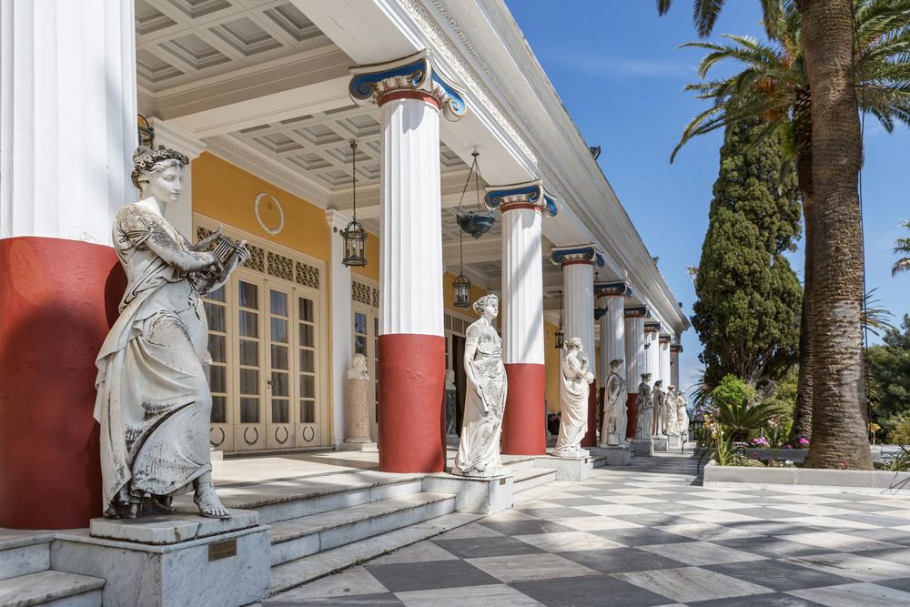 Achillion palace in Corfu island _276110609
