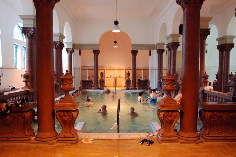 thermal bath in the Szechenyi spa circa _58835749