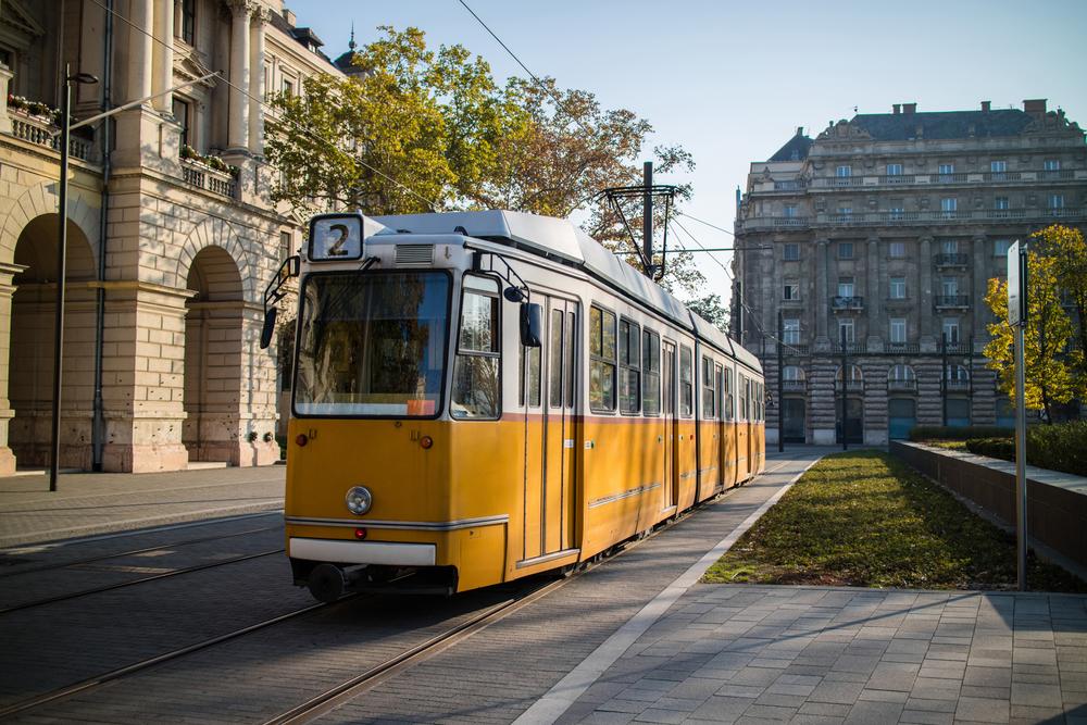 Yellow tram of Budapest_379862149