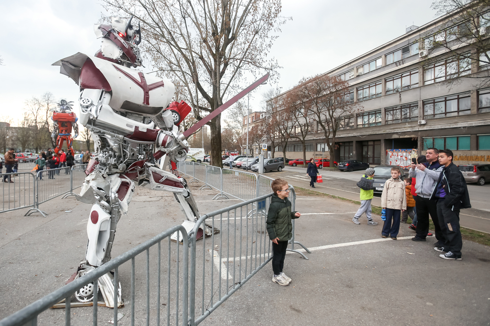 Transformers protecting Zagreb on square Franje Tudjmana_398607154