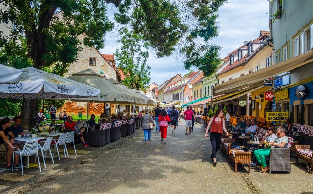 street ivana racica in croatian capital zagreb_384973414