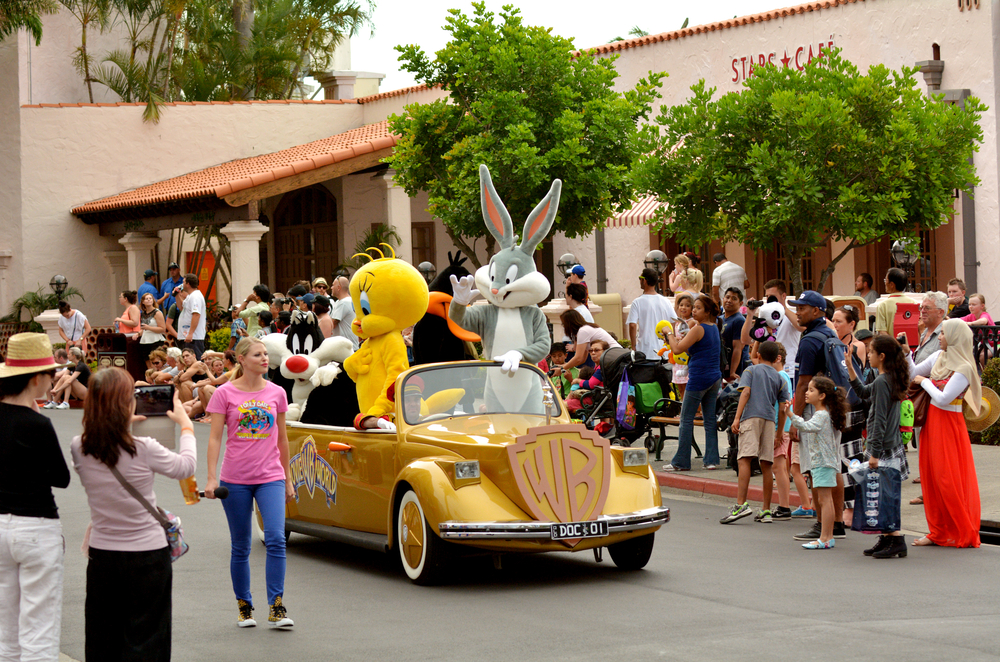 Bunny and animated cartoon characters in Movie World Gold Coast _234082153