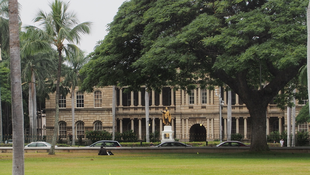 Iolani Palace in downtown Honolulu_376293331