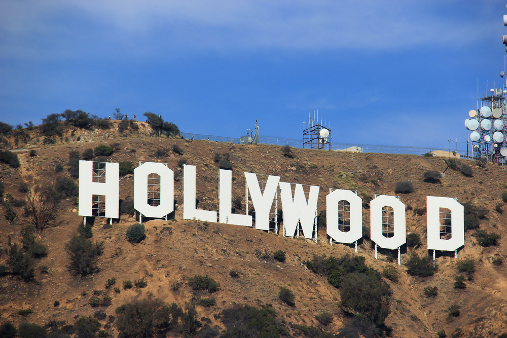 Hollywood Hills area of the Santa Monica Mountains in Los Angeles_417883279