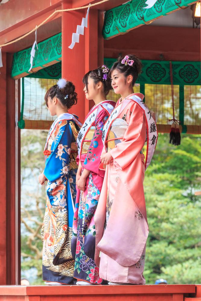 Kimono on Kamakura Matsuri Festival_413529994