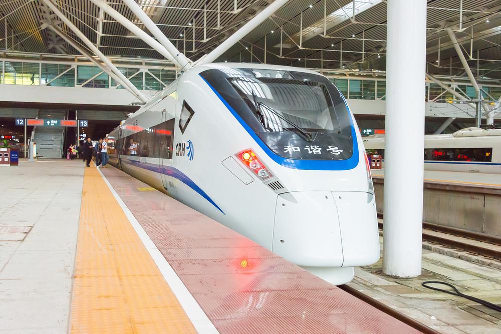 China Railways CRH1E in Shenzhen North Railway Station_399608491