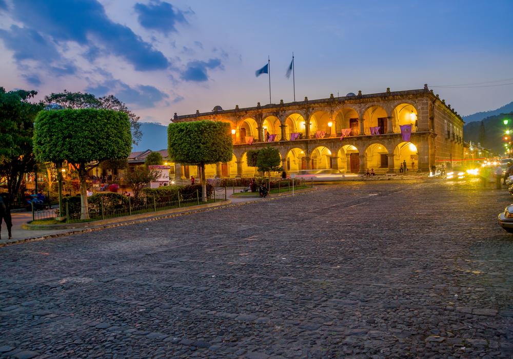 Baroque building in main square plaza Antigua Guatemala_222698005