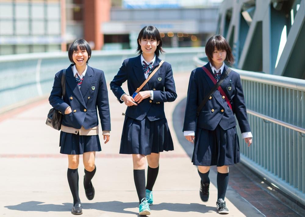 school girls in yokohama city_301489139