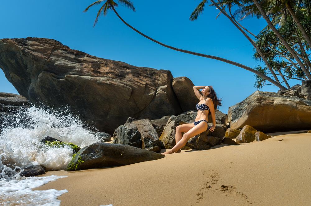 Sri Lankan beach in Unawatuna_280569944