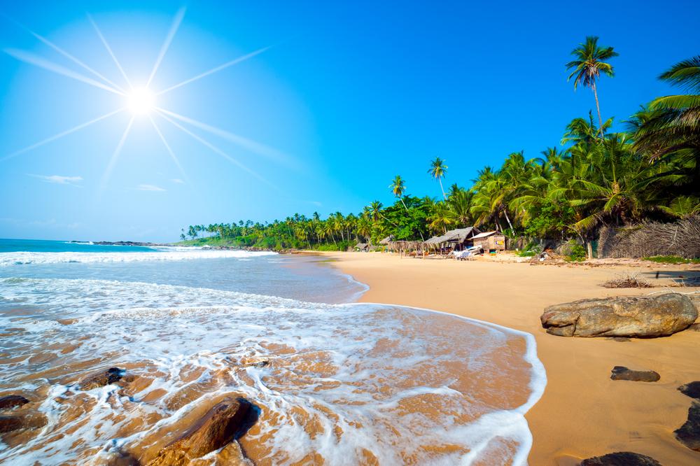 tropical beach in Sri Lanka_110741981