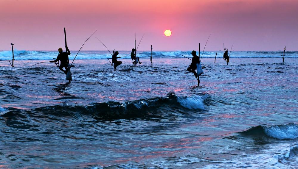 sunset near Galle in Sri Lanka_266039048