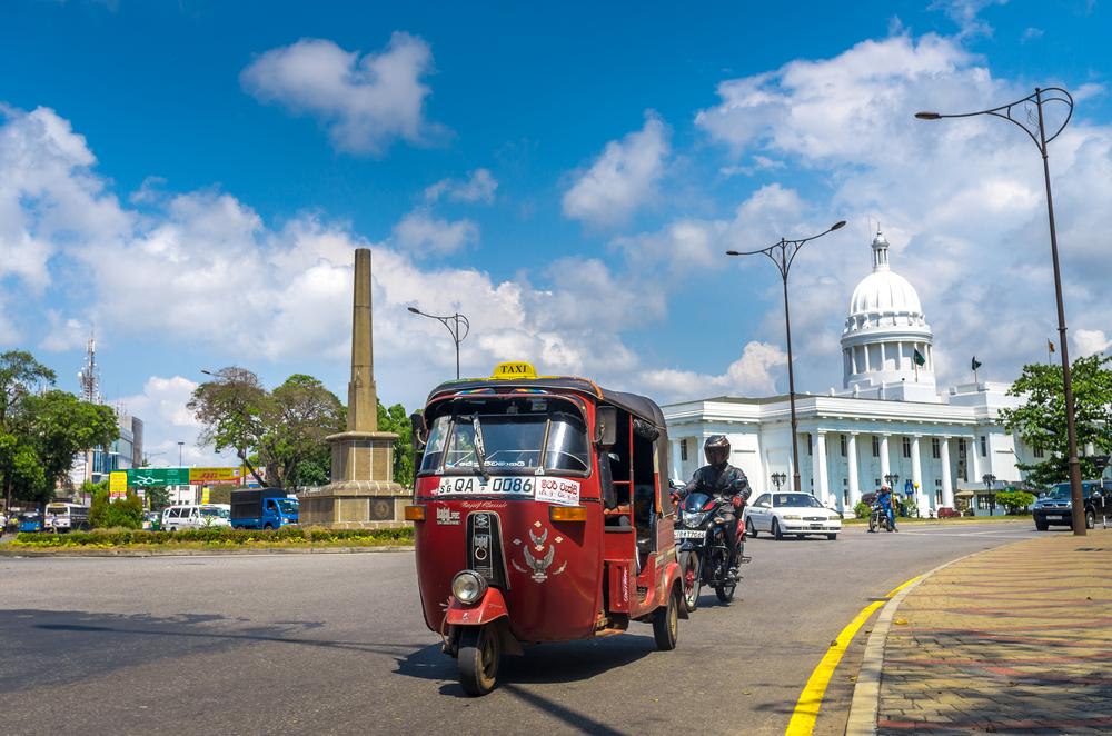 Tuk Tuk in a city street in Colombo_257527819