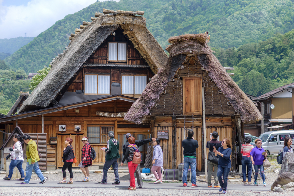 View of Shirakawago (Shirakawa Village) world heritage village_441721174