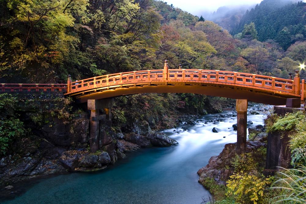 sacred bridge (shinkyo bridge) in nara_8109394