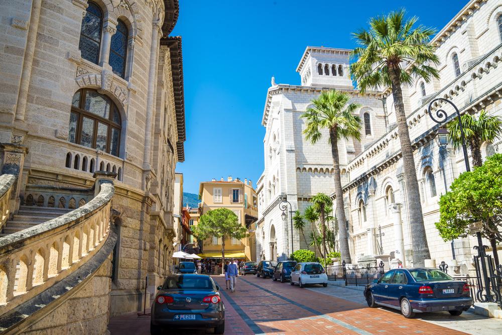 Exterior of the Monaco Cathedral (Cathedrale de Monaco) in Monaco-Ville_332421557