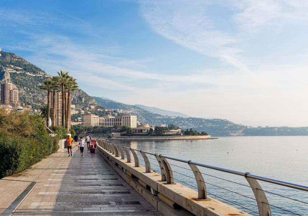 Panoramic view of the beach in Monte Carlo, Monaco_360240809