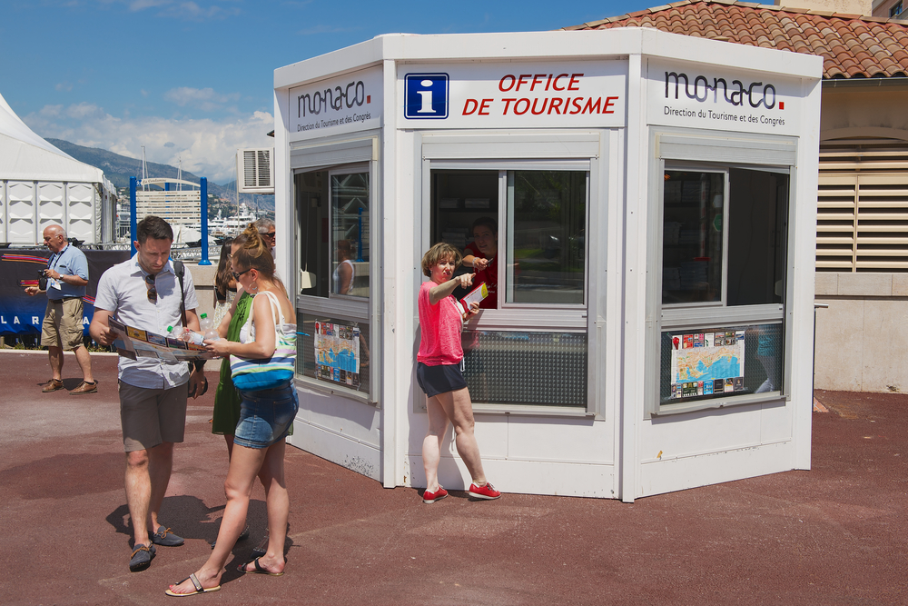 office of tourism booth in Monaco_289561310