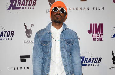 "Andre 3000 Benjamin. Arrivals for the special Los Angeles screening of ""Jimi: All Is By My Side"" held at The ArcLight Cinemas in Hollywood, Ca."