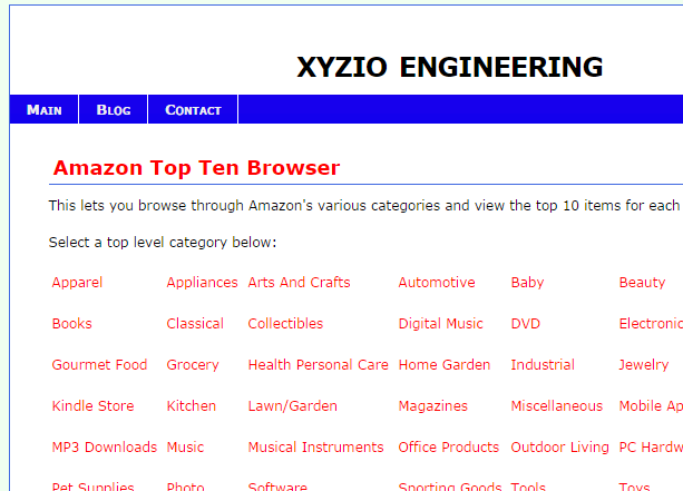 Amazon Top Ten Browser