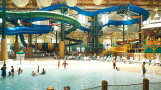 Located on the Chehalis Reservation, the Great Wolf Lodge Washington has a 65,square-foot indoor water park with a family raft ride, a funnel ride, and the South Hot Springs whirlpool spa. The resort offers over hotel rooms.