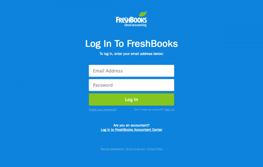 Login Page Freshbooks Find Saas Websites Inspiration