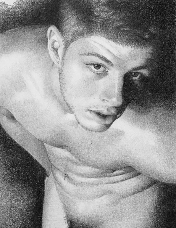 Medium: graphite pencil drawing on paper. Year Created: 2009
