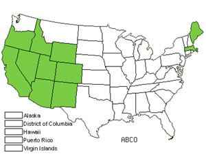 Native States for White Fir (Abies Concolor)