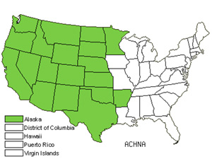 Native States for Needlegrass (Achnatherum)