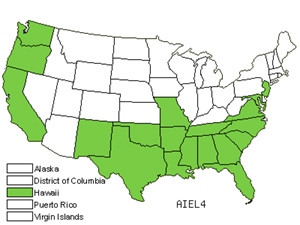 Native States for Annual Silver Hairgrass (Aira Elegans)