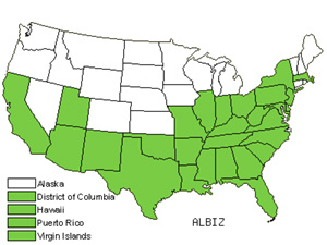 Native States for Albizia (Albizia)