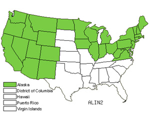 Native States for Gray Alder (Alnus Incana)