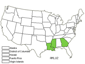 Native States for Louisiana Bluestar (Amsonia Ludoviciana)