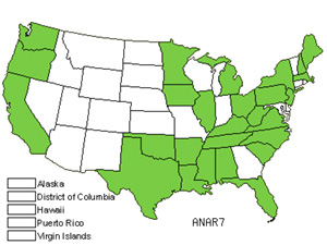 Native States for Annual Vernalgrass (Anthoxanthum Aristatum)