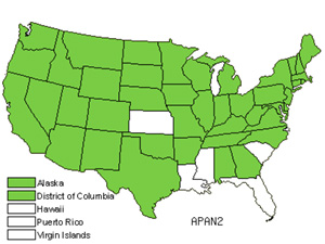 Native States for Spreading Dogbane (Apocynum Androsaemifolium)